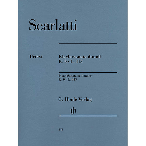 G. Henle Verlag Piano Sonata in D minor, K. 9, L. 413 Henle Music Folios Softcover by Scarlatti Edited by Bengt Johnsson