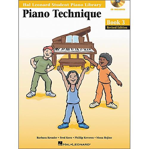 Hal Leonard Piano Technique Book 3 Book/CD Hal Leonard Student Piano Library
