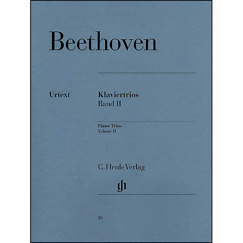 G. Henle Verlag Piano Trios - Volume II By Beethoven
