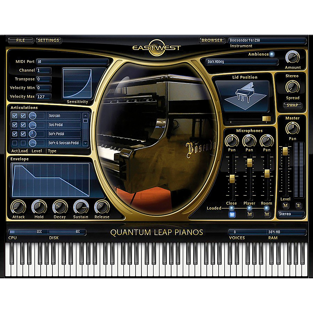 EastWest Pianos - Steinway D Gold