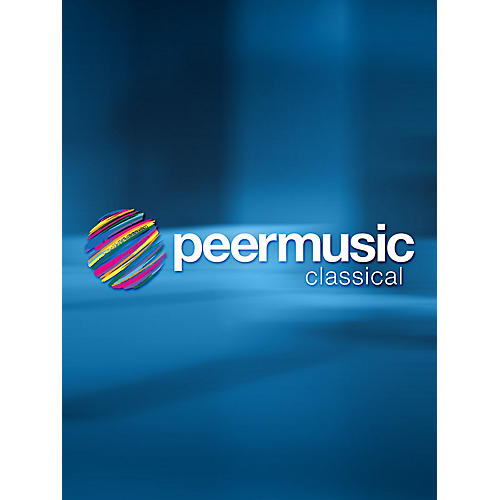 Peer Music Piece for 2 Instrument Units Peermusic Classical Series Composed by Stefan Wolpe