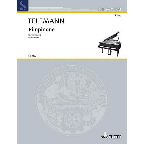 Schott Pimpinone (Vocal Score) Composed by Georg Philipp Telemann