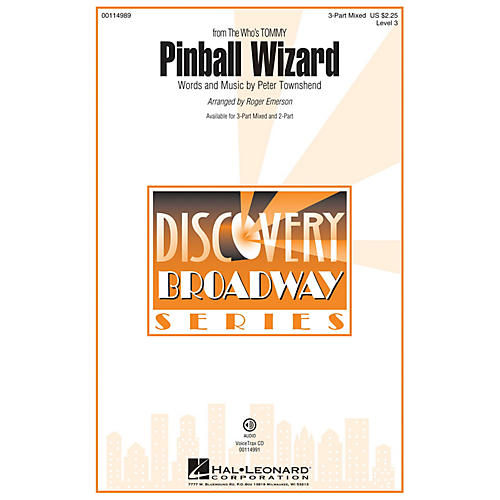 Hal Leonard Pinball Wizard (Discovery Level 3 3-Part Mixed) 3-Part Mixed by The Who arranged by Roger Emerson