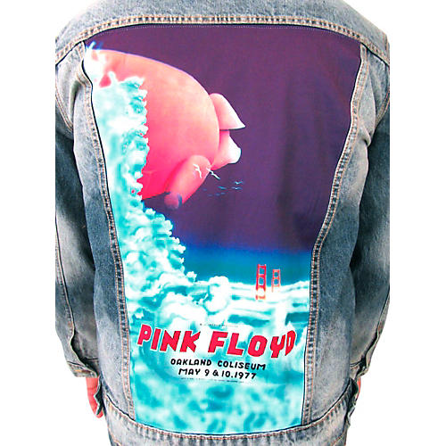 Dragonfly Clothing Pink Floyd - Oakland Coliseum '77  Pig In The Sky - Mens Denim Jacket