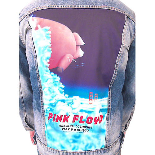 Dragonfly Clothing Pink Floyd - Oakland Coliseum '77  Pig In The Sky - Womens Denim Jacket