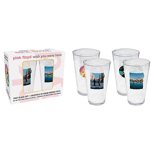 Hal Leonard Pink Floyd Wish You Were Here Pint Glasses 2-Pack