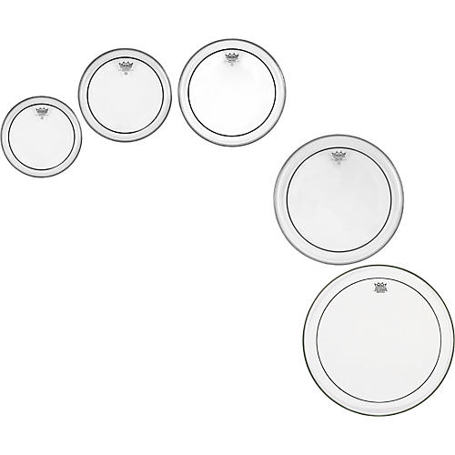 Remo Pinstripe Clear 5 Piece Tom Drumhead Pack