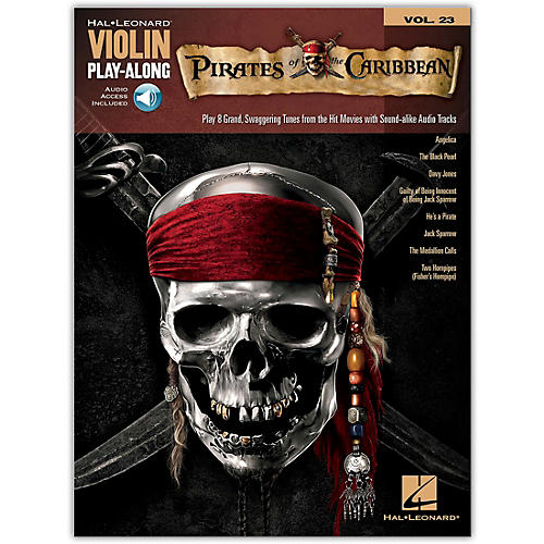 Hal Leonard Pirates Of The Caribbean - Violin Play-Along Volume 23 Book/Online Audio