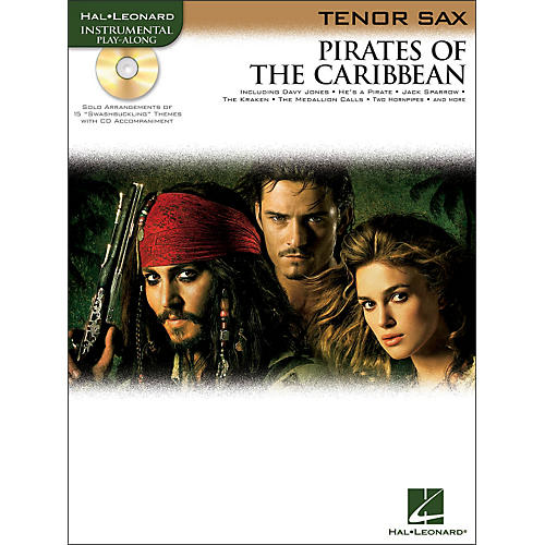 Hal Leonard Pirates Of The Caribbean for Tenor Sax Instrumental Play- Along Book/CD