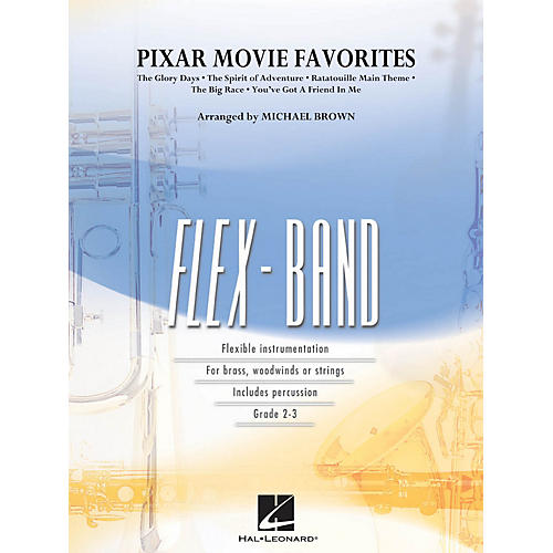 Hal Leonard Pixar Movie Favorites Concert Band Level 2-3 Arranged by Michael Brown