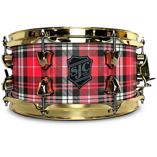 SJC Drums Plaid Maple Snare Drum With Brass Hardware