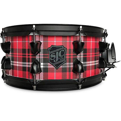 SJC Drums Plaid Maple Snare Drum with Black Hardware