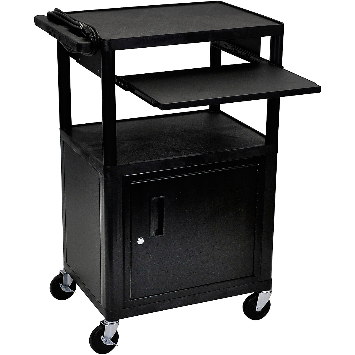 H. Wilson Plastic Cart with Pullout Keyboard Tray