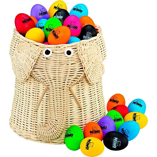 Nino Plastic Egg Shaker 80-Piece Assortment with Basket