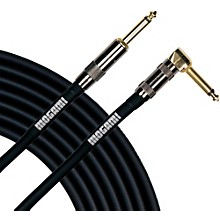 Mogami Platinum Instrument Cable with Right Angle to Straight End Connectors Level 1 6 ft. Right Angle to Straight