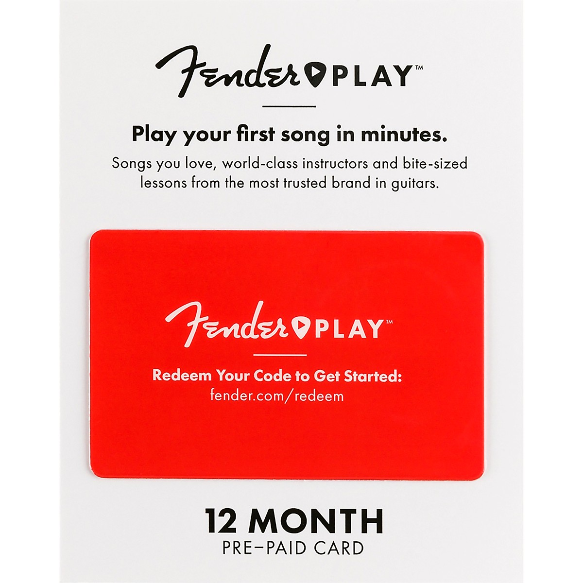 Fender Play 12-Month Lesson Gift Card