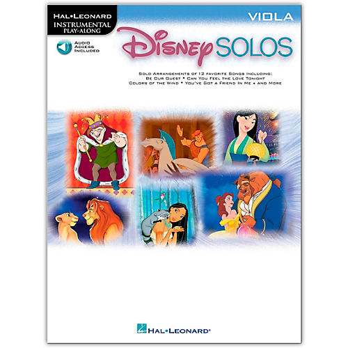 Hal Leonard Play-Along Disney Solos Book - Viola (Book/Online Audio)