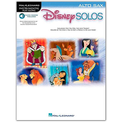 Hal Leonard Play-Along Disney Solos Book with Online Audio Alto Saxophone