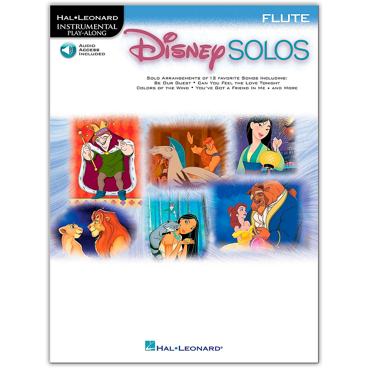 Hal Leonard Play-Along Disney Solos Book with Online Audio-Flute