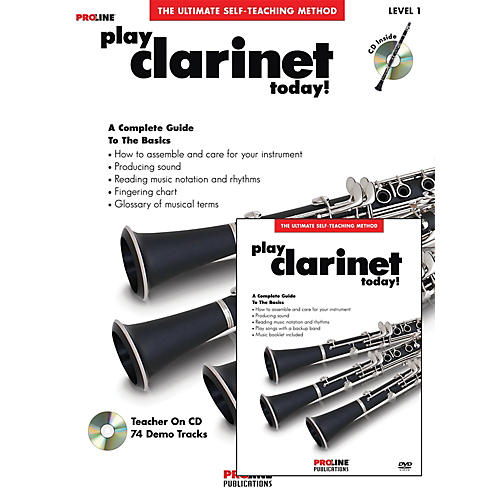 Proline Play Clarinet Today Beginner's Pack Book/CD/DVD