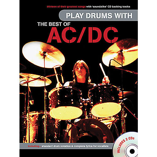 Music Sales Play Drums With The Best Of AC/DC (Book/Online Audio)