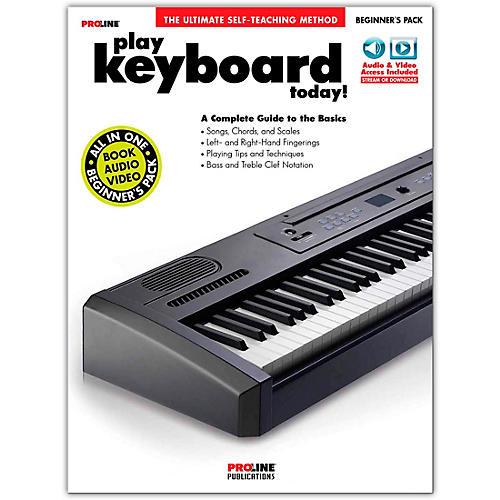 Proline Play Keyboard Today! Beginner's Pack Book/Audio & Video Online