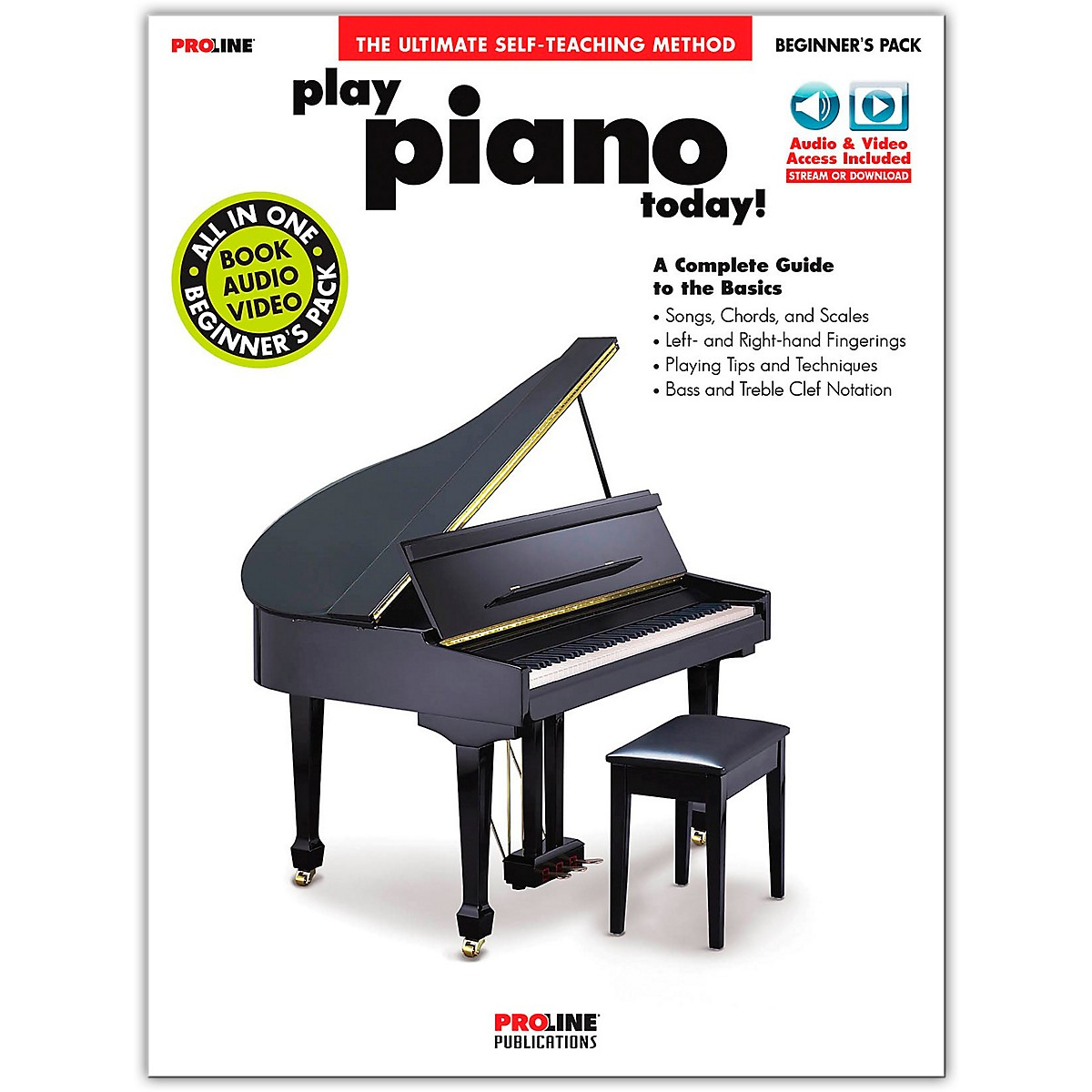 Proline Play Piano Today! Beginner's Pack Book/Online Audio & Video