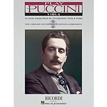 Ricordi Play Puccini (10 Arias Transcribed for Viola & Piano) Instrumental Play-Along Series Softcover with CD