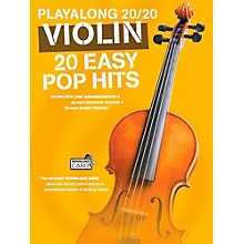 Music Sales Playalong 20/20 Violin - 20 Easy Pop Hits (Book/Audio)