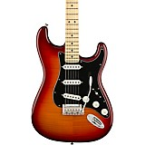 Fender Player Stratocaster Plus Top Maple Fingerboard Electric Guitar Aged Cherry Burst