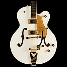 Gretsch Guitars Players Edition G6136T Falcon Hollowbody with String-Thru Bigsby Electric Guitar White