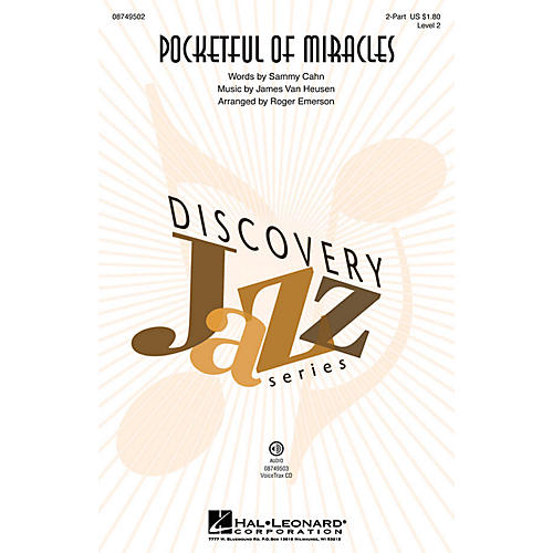 Hal Leonard Pocketful of Miracles (Discovery Level 2) VoiceTrax CD by Frank Sinatra Arranged by Roger Emerson