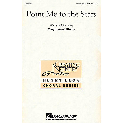 Hal Leonard Point Me to the Stars UNIS/2PT composed by Mary-Hannah Klontz