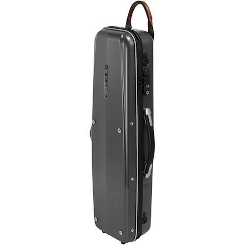 GL Cases Polycarbonate Silver Soprano Saxophone Case
