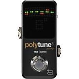 TC Electronic Polytune Noir Mini 3 Pedal Tuner Black