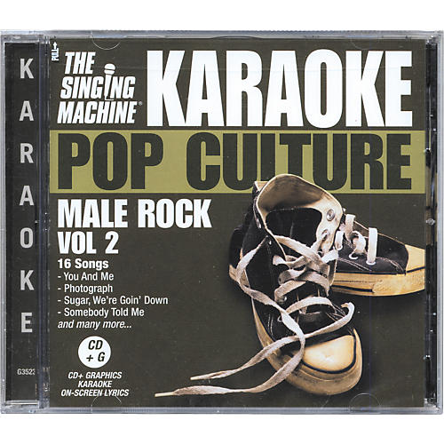 The Singing Machine Pop Culture Male Rock Volume 2 Karaoke CD+G