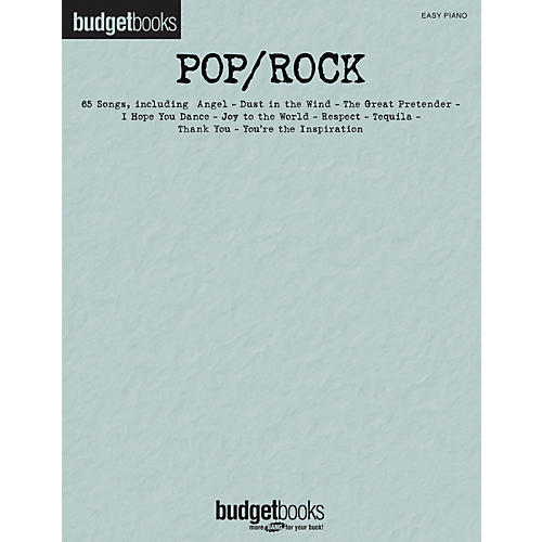 Hal Leonard Pop/Rock - Budget Book Series For Easy Piano