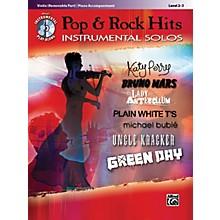 Alfred Pop & Rock Hits Instrumental Solos Violin Book & CD