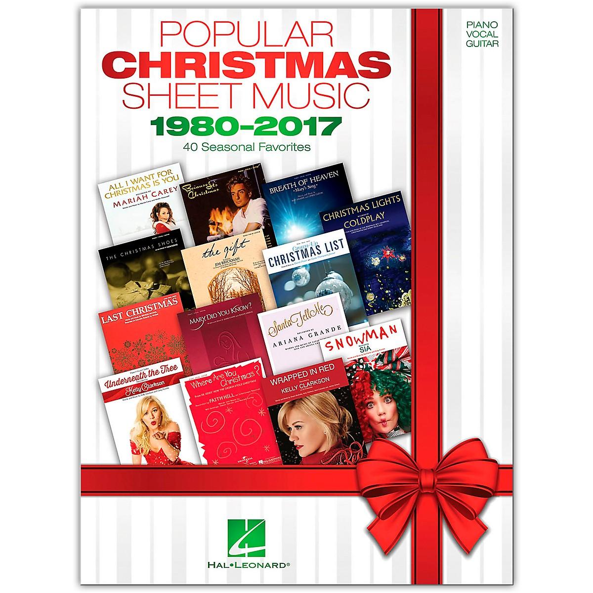 Hal Leonard Popular Christmas Sheet Music - 1980-2017 Piano/Vocal/Guitar Songbook