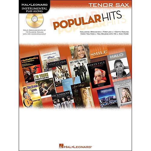 Hal Leonard Popular Hits For Tenor Sax - Instrumental Play-Along Book/CD