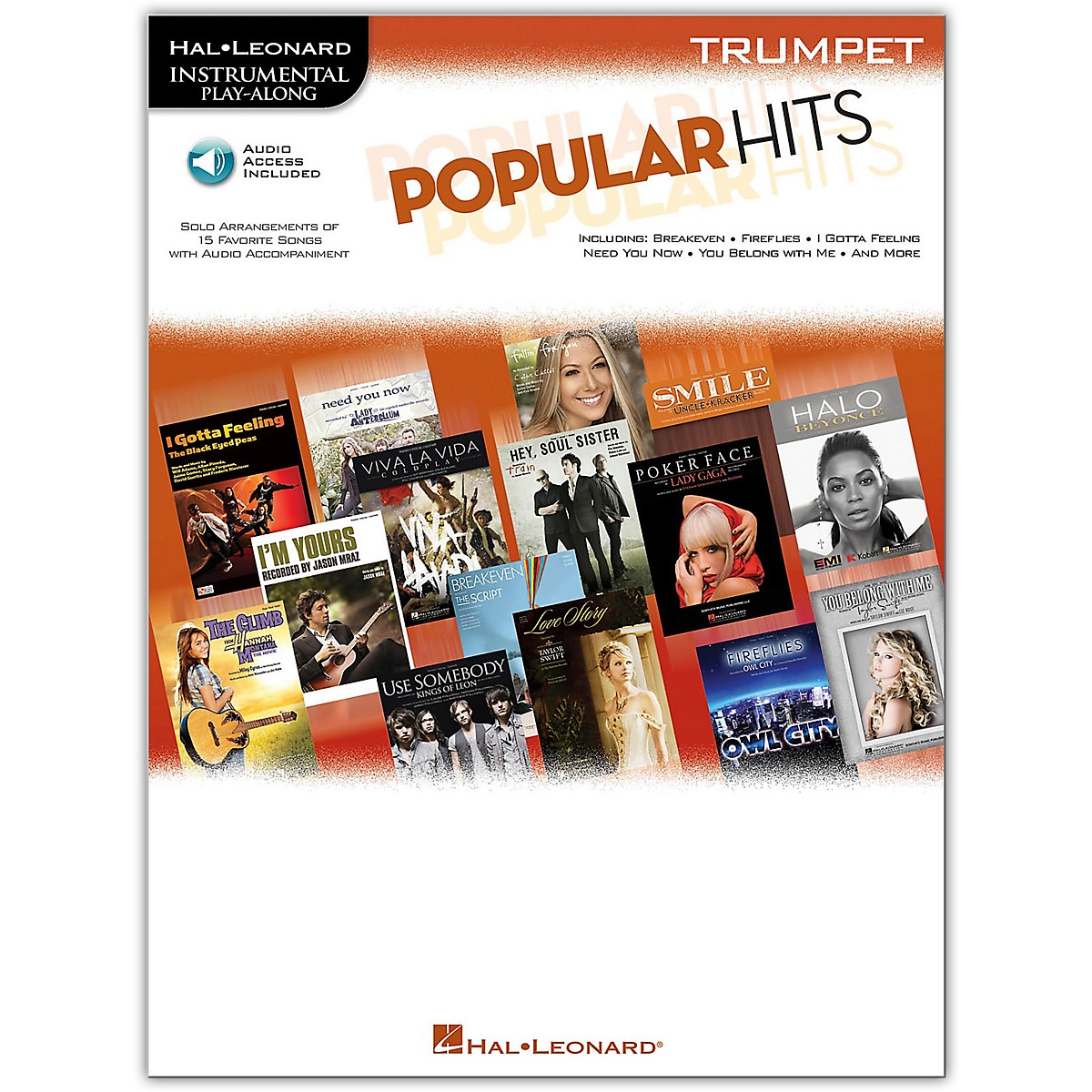 Hal Leonard Popular Hits For Trumpet - Instrumental Play-Along Book/Online Audio