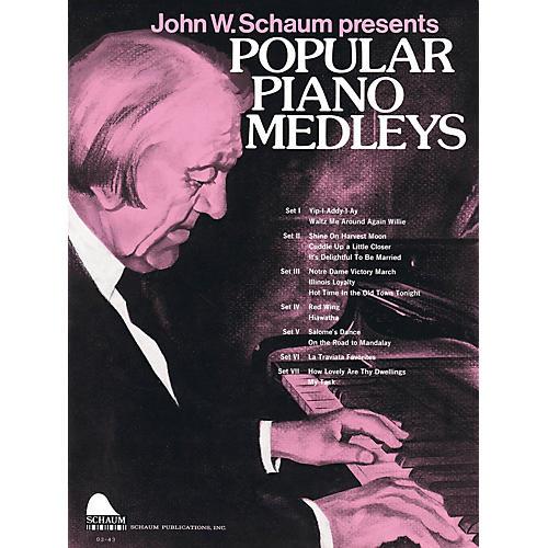 SCHAUM Popular Piano Medleys Educational Piano Series Softcover