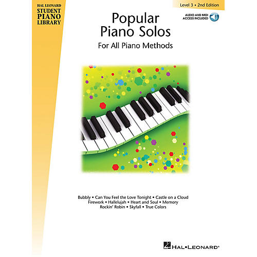 Hal Leonard Popular Piano Solos 2nd Edition -Level 3 Educational Piano Library Softcover Audio Online by Various