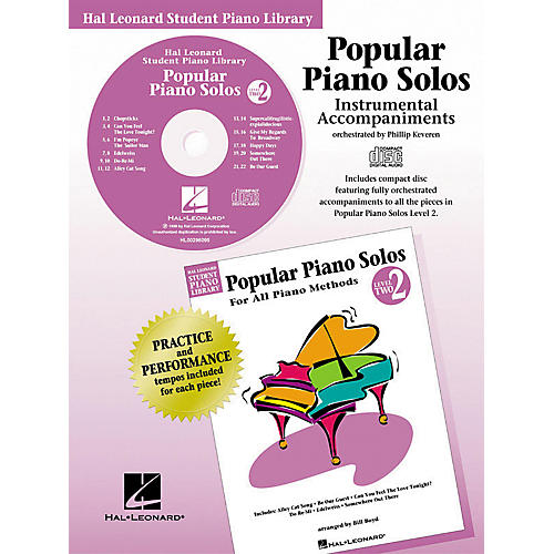 Hal Leonard Popular Piano Solos Book 2 Accompaniment CD Hal Leonard Student Piano Library