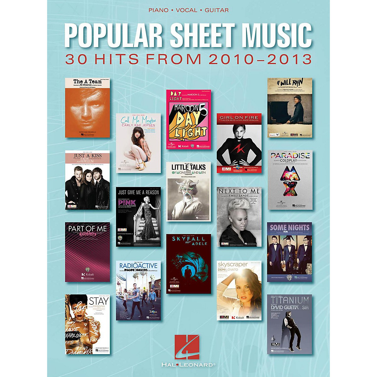 Hal Leonard Popular Sheet Music - 30 Hits From 2010 - 2013 for Piano/Vocal/Guitar