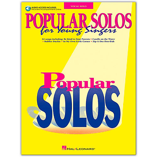 Hal Leonard Popular Solos for Young Singers (Book/Online Audio)