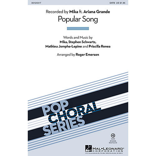 Hal Leonard Popular Song 2-Part by Mika Arranged by Roger Emerson