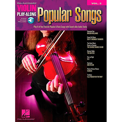 Hal Leonard Popular Songs Violin Play-Along Vol 2 Book/CD