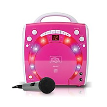 The Singing Machine Portable CD & Graphics Karaoke System Level 1 Pink