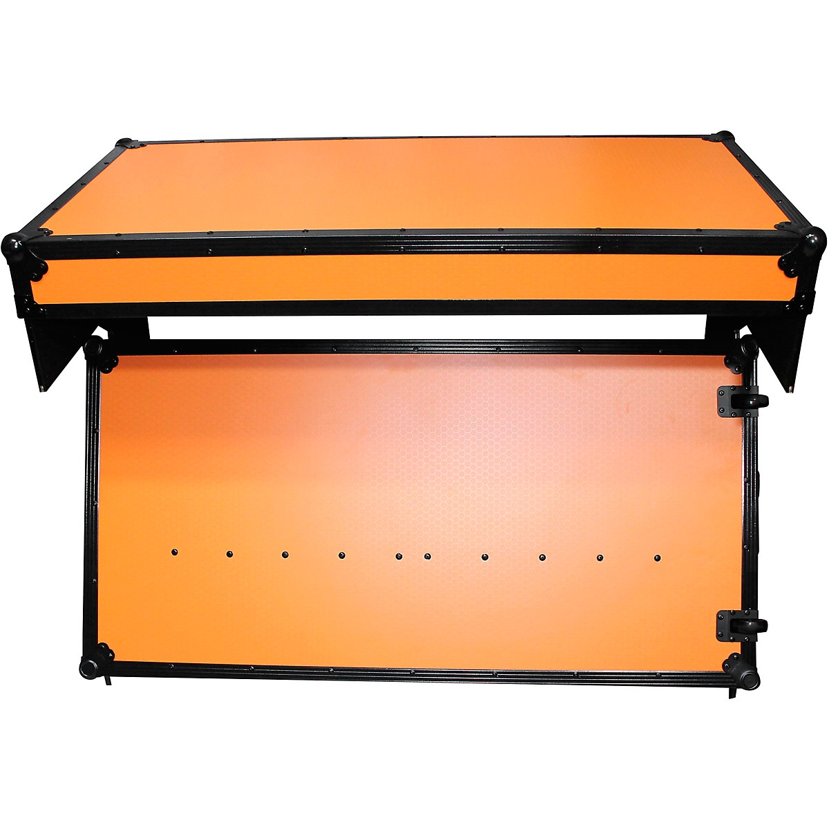ProX Portable Z-Style Dj Table Flight Case - Orange/Black (XS-ZTABLEOB)